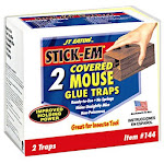 JT Eaton 144 Stick-Em Covered Mouse Glue Trap - 2 pack