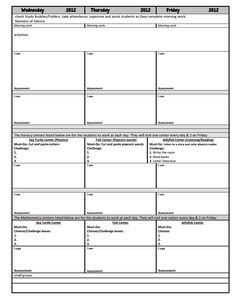 Small Group Lesson Plan Template | Templates, Assessment and ...
