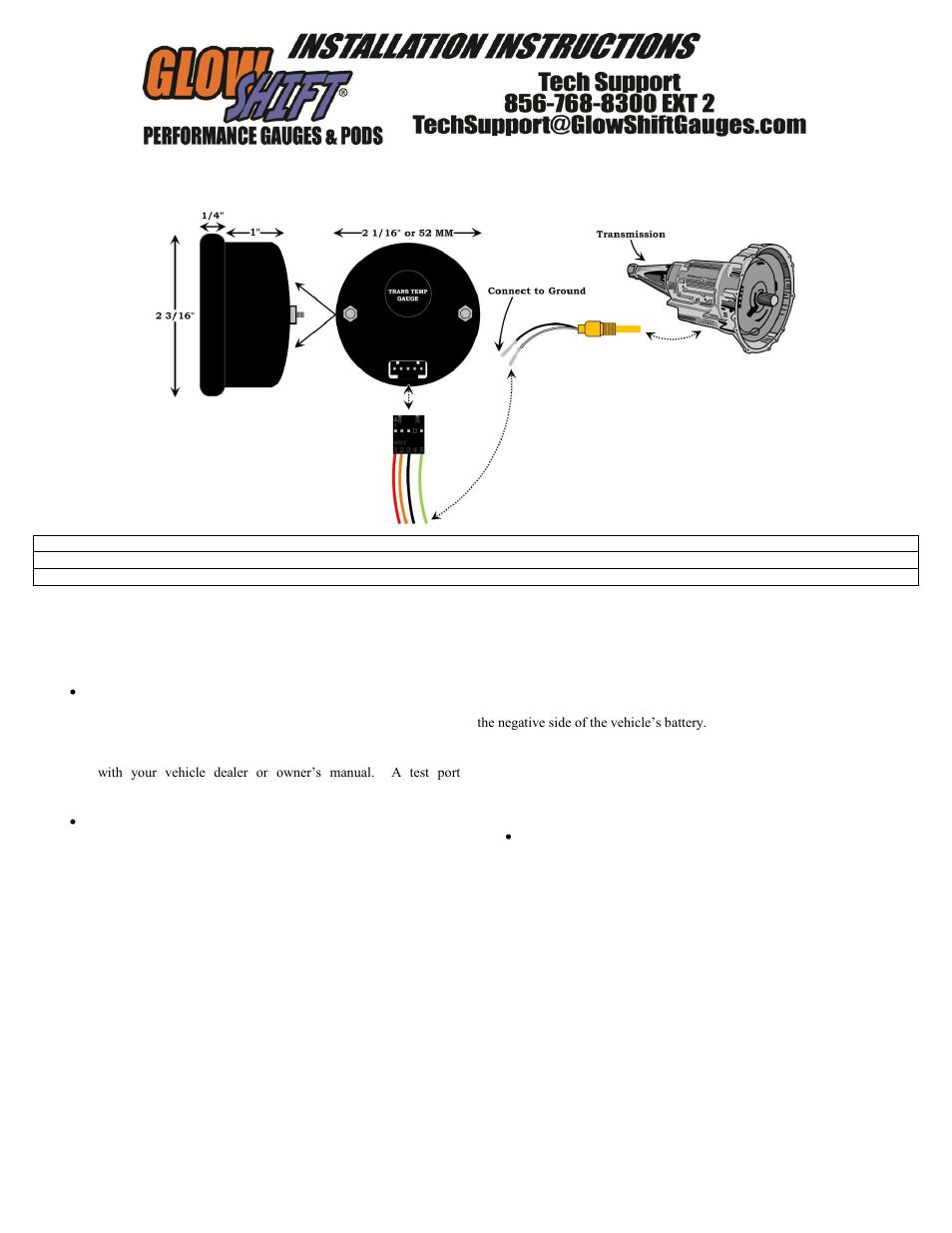 Aircraft Temperature Gauge 4 Wire Schematic