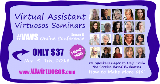 Virtual Assistant Training Online Conference VAvirtuosos #VAVS