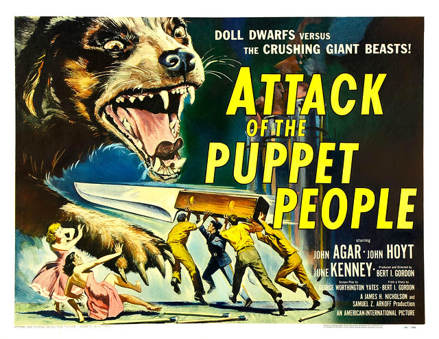 Reynold Brown - Attack of the Puppet People (American International, 1958) half sheet