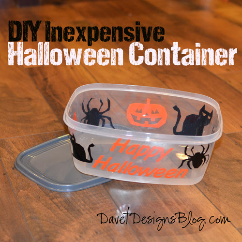 DIY Inexpensive Halloween Container Tutorial