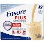 Ensure Plus Nutrition Shake, 8 fl. oz., 30-Pack, Vanilla