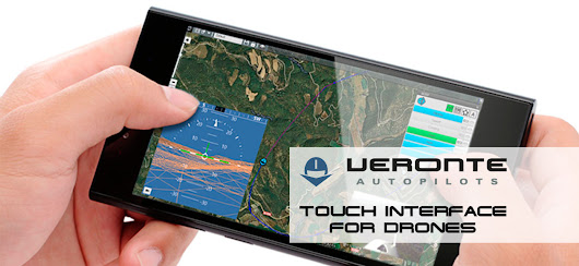 Touch user interface for controlling professional UAVs