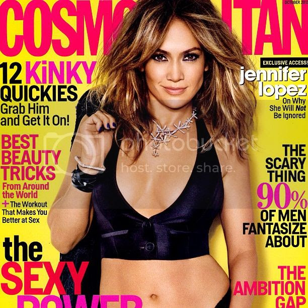 Jennifer Lopez looks hot on October cover issue of Cosmopolitan!