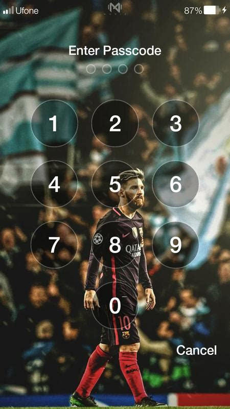 messi  hd wallpapers pin lock screen  android apk