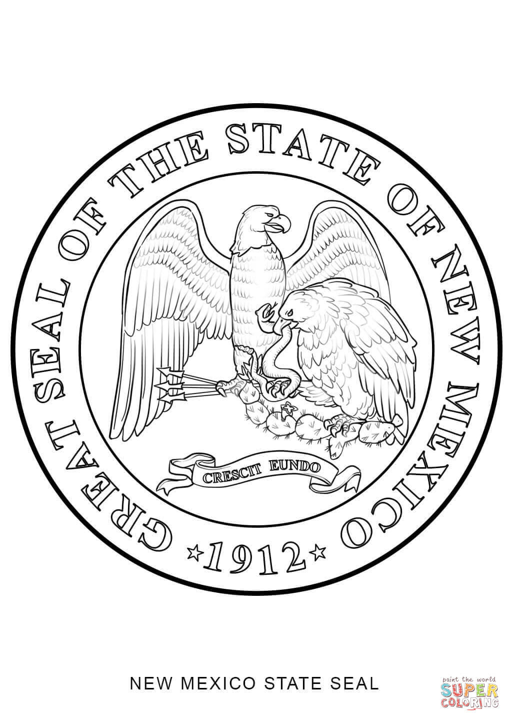 nc state seal coloring pages - photo#13