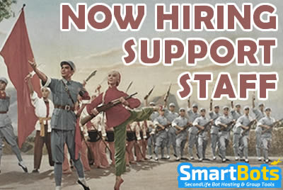 We're Hiring! :: SmartBots :: Second Life bot hosting, direct group inviter & group advertising