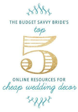 The Top Online Resources for Cheap Wedding Decor   VA & DC