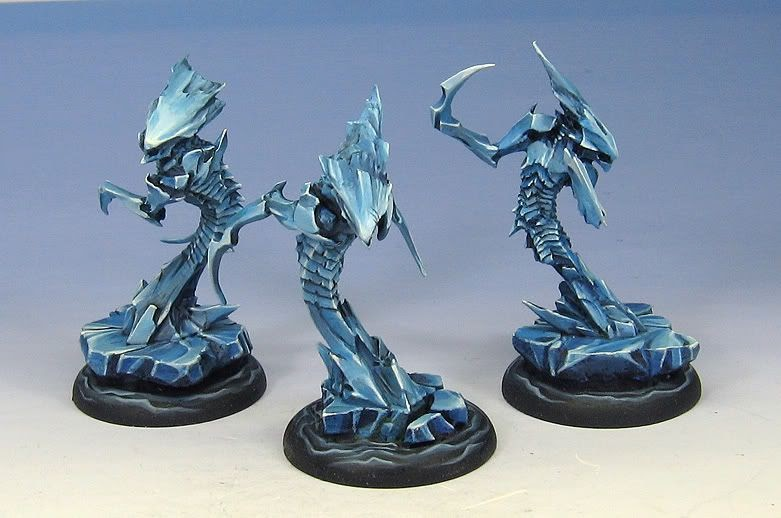 Painting Blue White On Miniatures