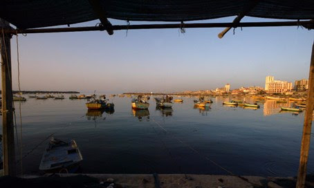 Fishermen off the coast of Gaza