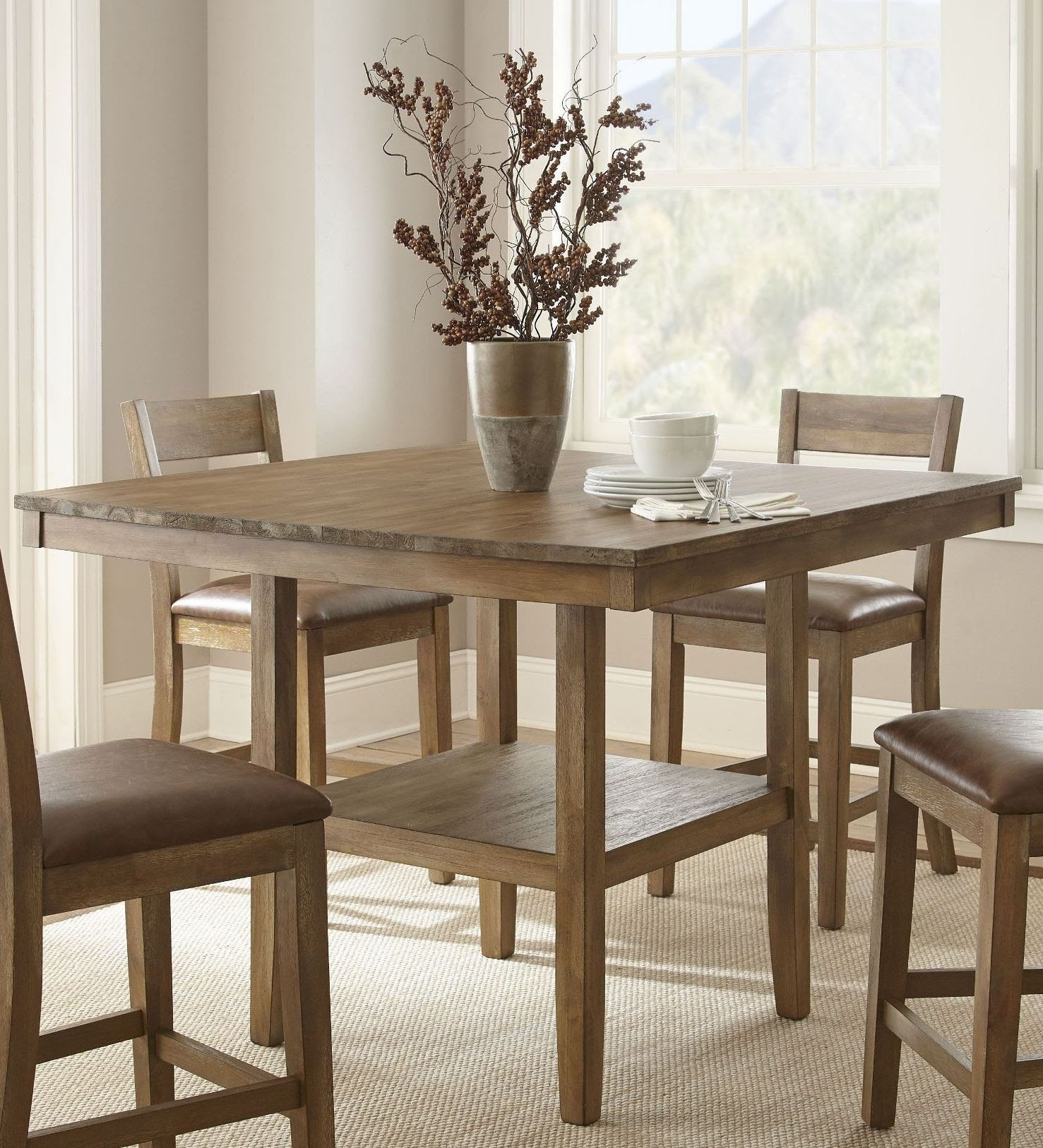 Cambrey Rustic Honey Counter Height Dining Table, CB700PT ...