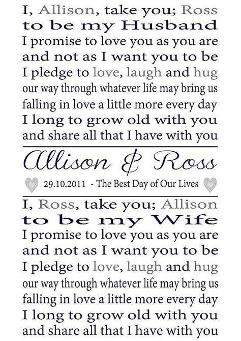 personalised wedding vows print by lisa marie designs