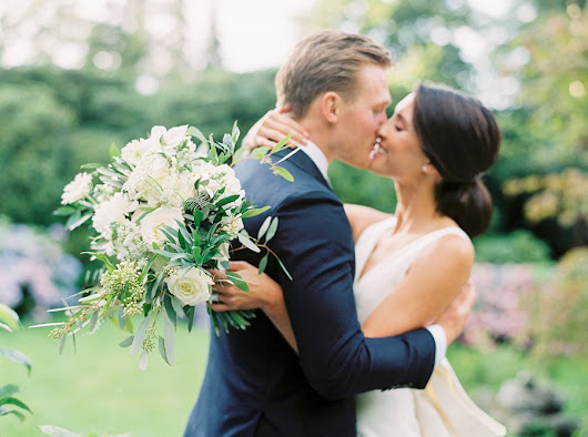 Elegant White & Green Garden Wedding at Norrviken | Danielle & Gus