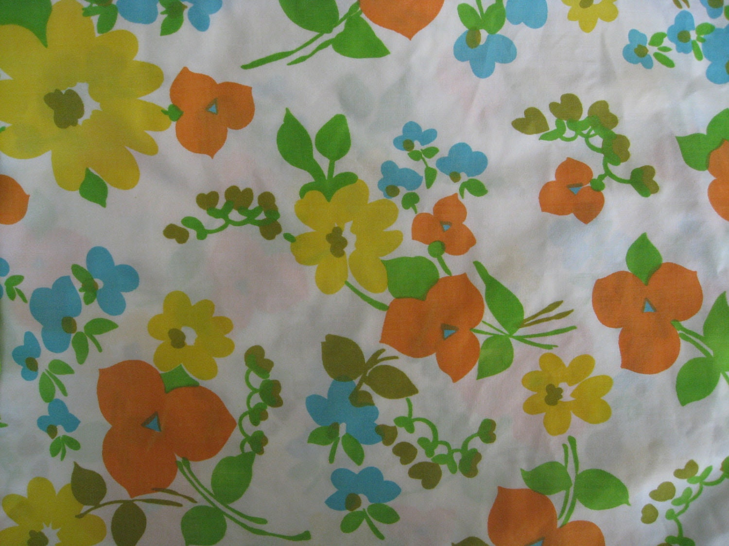 Double/full sheet set/vintage fitted and flat by BohoRain on Etsy