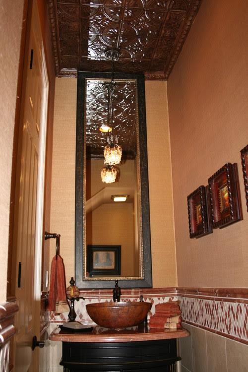 Zuniga Interiors mediterranean powder room