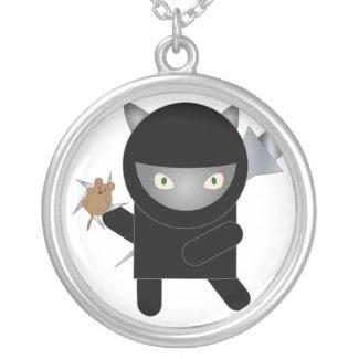 Ninja Kitty Necklace necklace