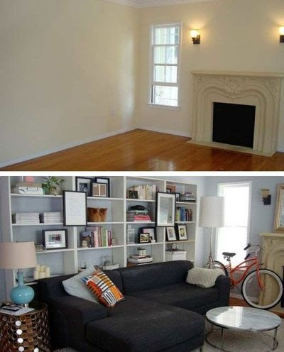Bookcase behind couch / For the home - Juxtapost