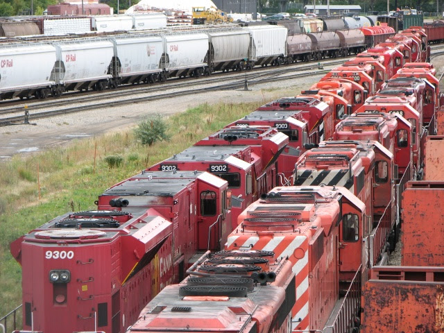 Stored CP engines in Winnipeg