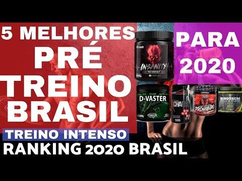 5 MELHORES PRÉ TREINO do BRASIL 2020 Ranking Brasileiro Foco Força Disposição no Treino Casa Maromba