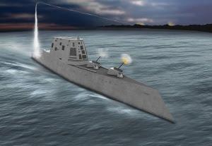 Yhdysvaltojen 180-metrinen Zumwalt-hävittäjälaiva ensi kertaa vesillä –