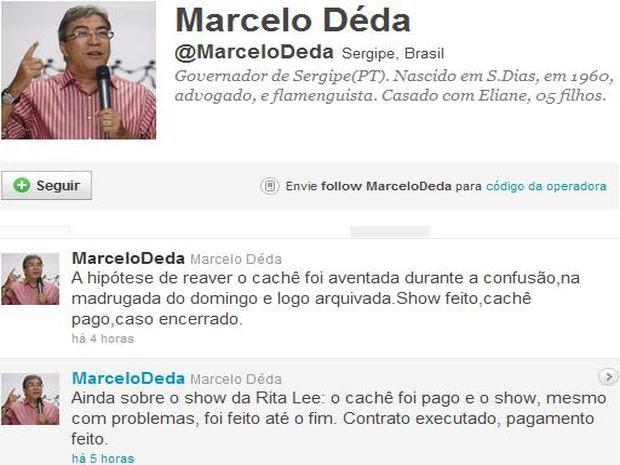 Governador de Sergipe não irá processar a cantora  (Foto: Reprodução/Twitter)