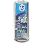 Car Mezuzah - with The Traveler's Prayer and Jerusalem Design