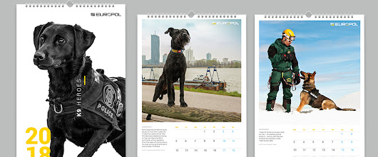 "First-ever Europol K9 ""Dogs as Heroes"" calendar"