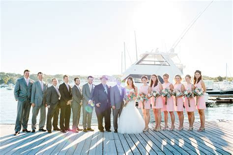 Rachael & Brian's stylish Scituate Harbor Yacht Club
