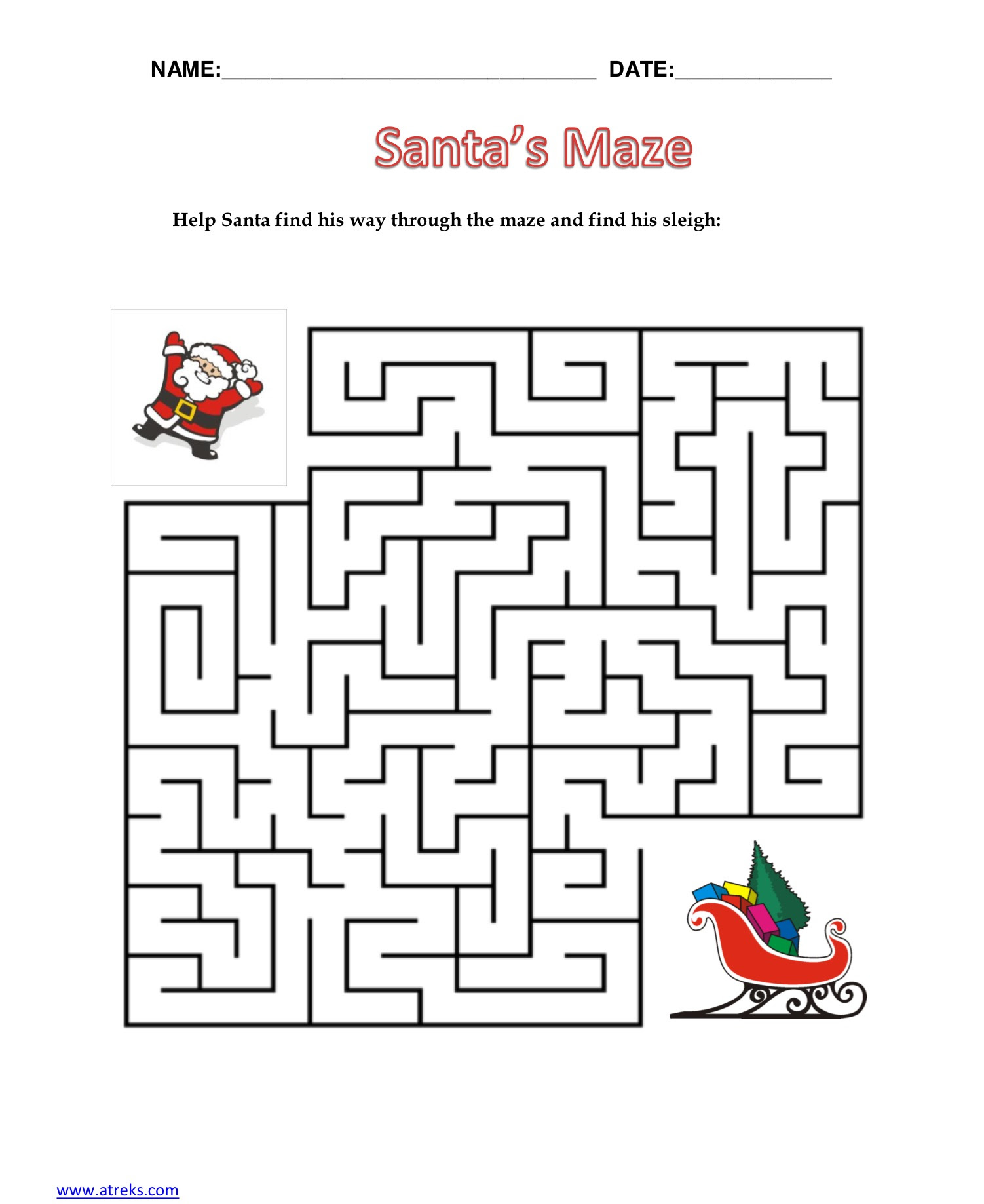 What Does Santa Do When It Rains Math Worksheet Answer