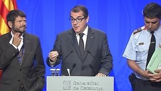 Jordi Jané, aquest divendres, durant la compareixença informativa