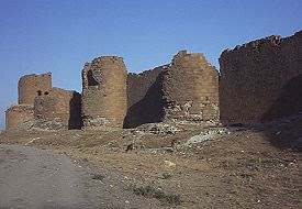 City walls to the right of Lion Gate in Ani. Click for more. (VirtualANI)
