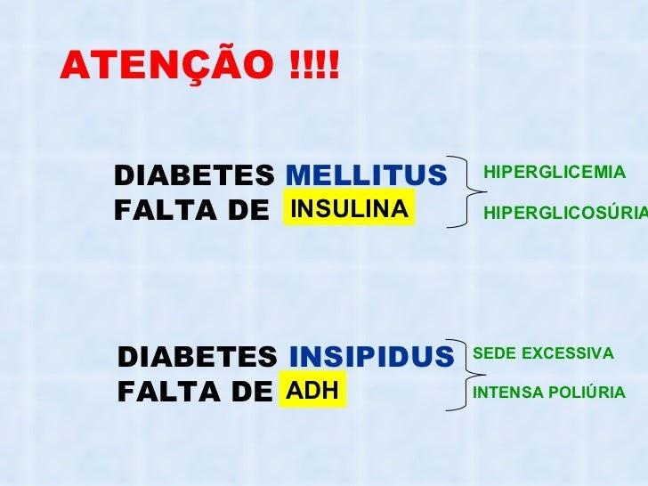 diabetes mellitus y síntomas insípidos