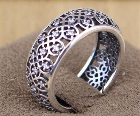 Pandora Intricate Lattice With Clear Cz Ring