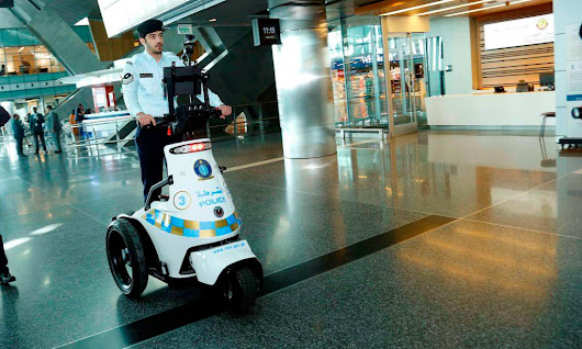 Robot cop goes on the beat at Hamad International Airport