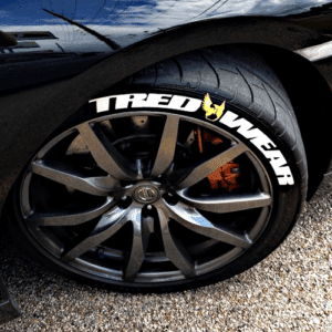 Racing Tire Stickers Letter Kit