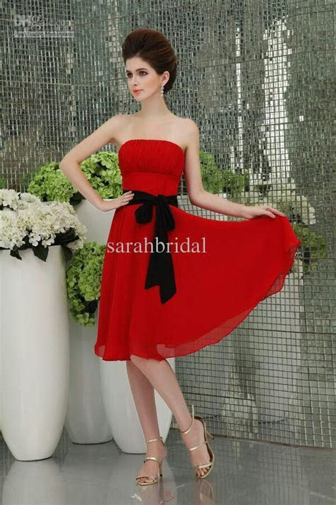 Red bridesmaid dress   Red,Black, and White Bridesmaids