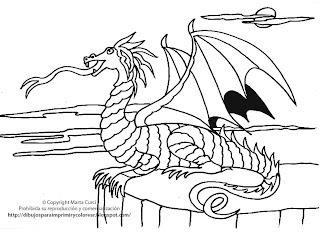 Dragones Para Pintar Para Ninos Archidev
