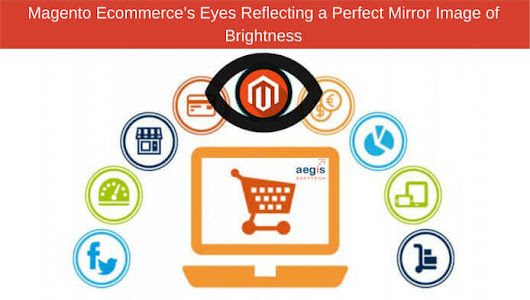 Magento Ecommerce's Eyes Reflecting a Perfect Mirror Image of Brightness