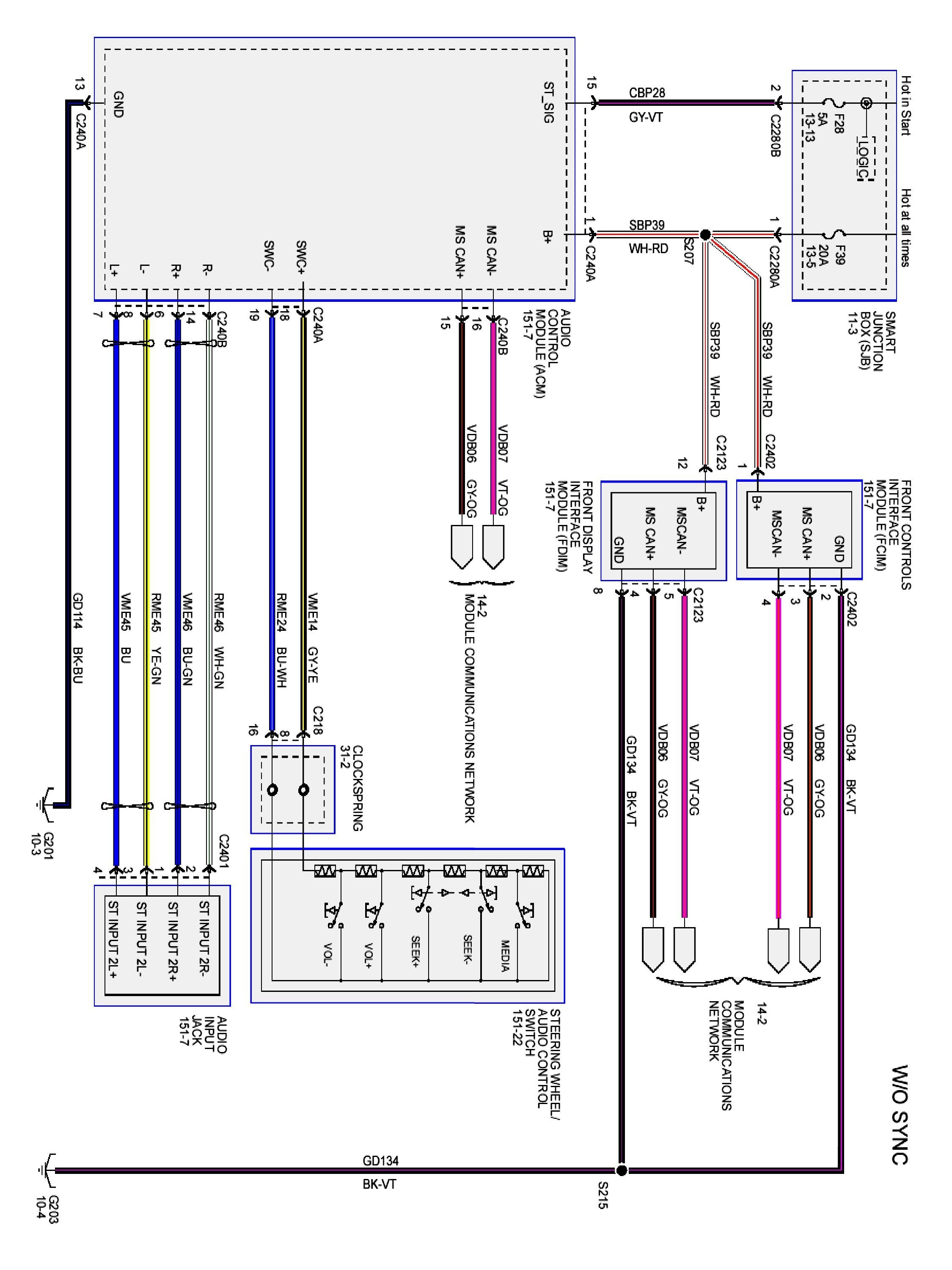 Ford Tauru Heater Control Wiring Diagram