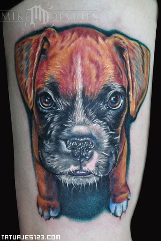 Cachorro De Boxer Tatuajes 123