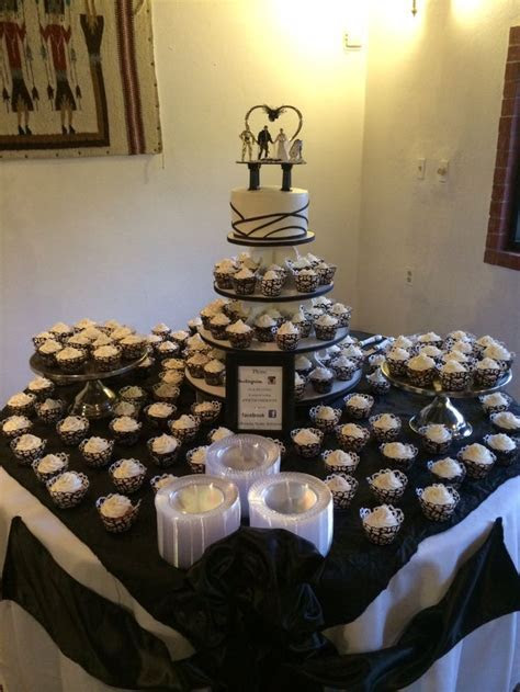 Wedding cake and cupcake table:)   Janette's cake