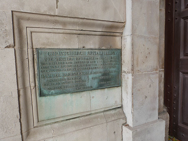 christ church spitalfield entrance