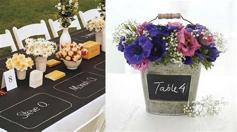 blackboard wedding table decorations   UK Wedding Styling