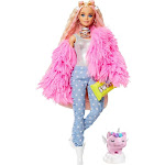 Barbie - Extra Doll - Fluffy Pink Jacket - Pink