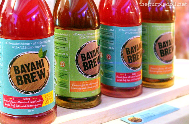 Bayani Brew's Lemongrass Pandan Iced Tea and Purple Leaf Iced Tea