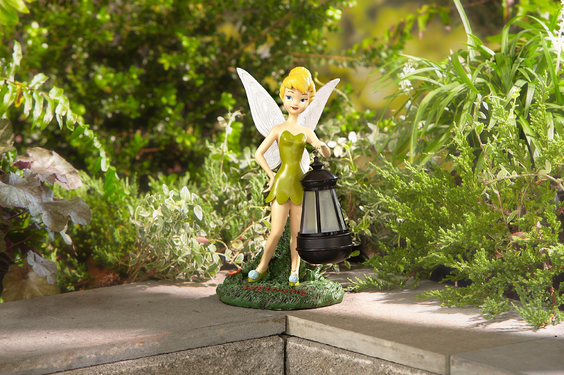 Disney Statue with Solar Lantern-Tinkerbell - Outdoor ...