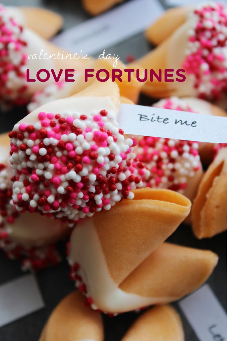 Valentine fortune cookies! Click through for 35 amazing, over-the-top Valentine's Day ideas, including Valentine's crafts, Valentine's recipes, and Valentine's decorations, and more!