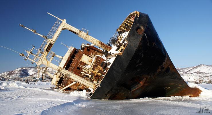 abandoned ships in  kamchatka, Russia 1