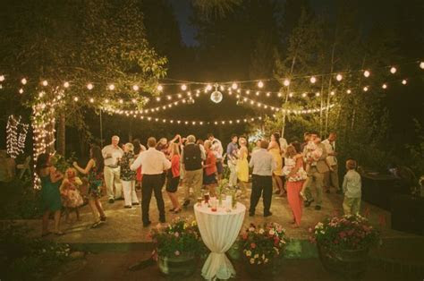 outdoor dance floor & lighting   The Twenty Mile House